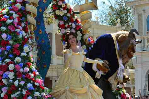 Walt Disney World, Magic Kingdom, Festival of Fantasy Parade, Belle and Beast