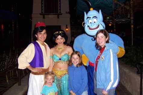 Aladdin Jasmine and Genie Disneyland Character Meet and Greet 2007