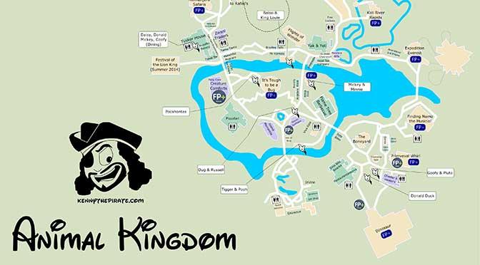 Animal Kingdom Map With Character Locations