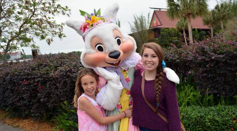 Easter Polynesian Resort character meet and greets Mrs. Easter Bunny