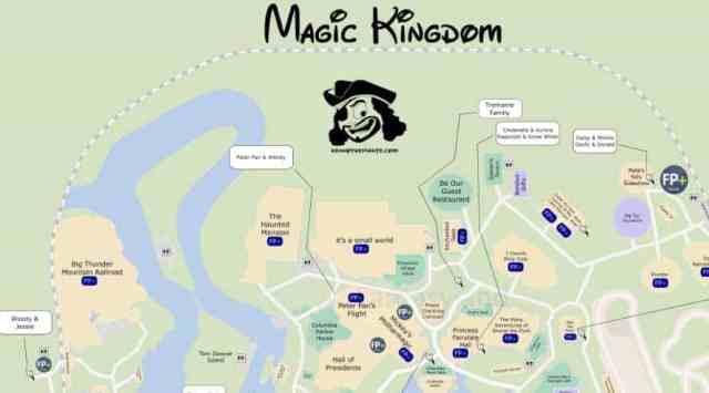 KennythePirate Magic Kingdom Map, KennythePirate map, Magic Kingdom Map