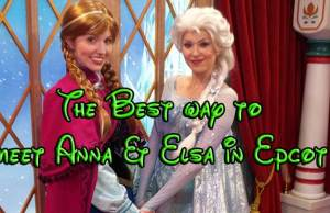 Meet Anna and Elsa in Epoct