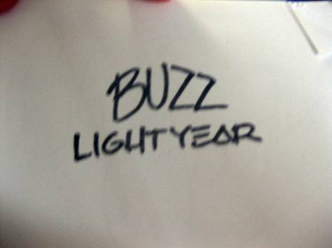 Buzz Lightyear stamp autograph