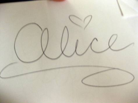 Alice in Wonderland Autograph