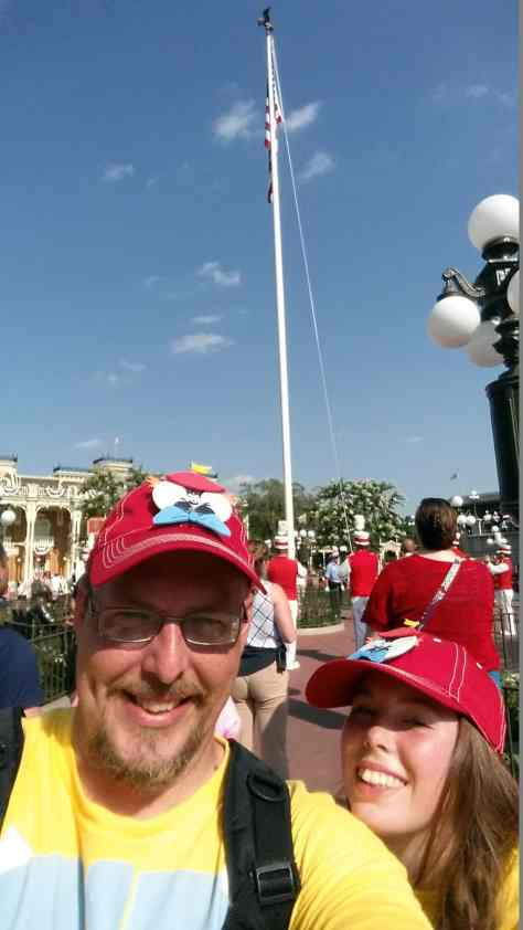 Flag Retreat in Magic Kingdom in Walt Disney World
