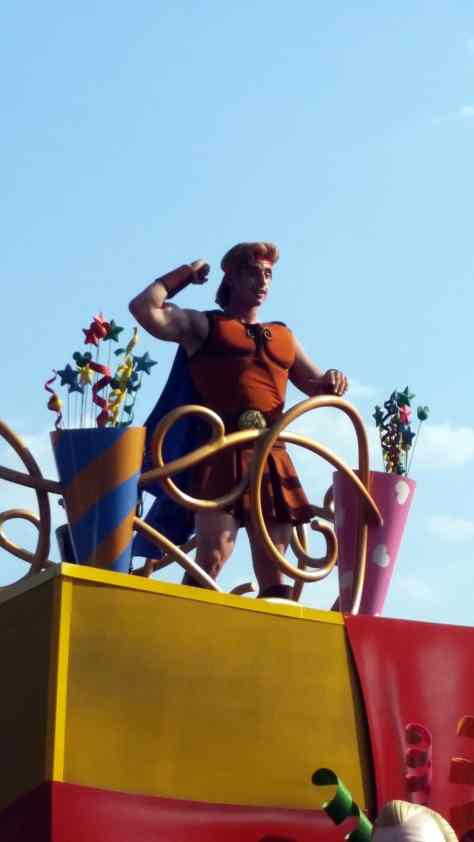 Move it Shake it Celebrate it with Hercules in Magic Kingdom in Walt Disney World