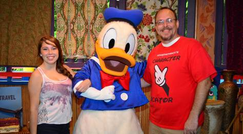 KennythePirate with Donald Duck at Animal Kingdom's Discovery Island