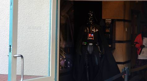 Boba Fett and Darth Vader at Star Wars Galactic Dine-in Character Breakfast at Hollywood Studios