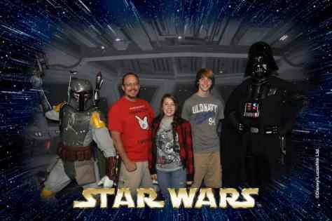 Boba Fett and Darth Vader Star Wars Weekends Photopass (1)