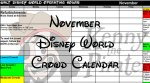 Disney World Crowd Calendar November 2017