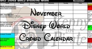 Disney World Crowd Calendar November 2017