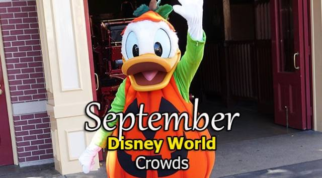 Disney World Crowd Calendar September 2020
