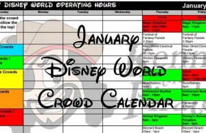Disney Crowd Calendar January 2018