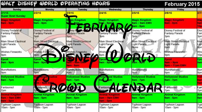 February 2015 Crowd Calendar Updated
