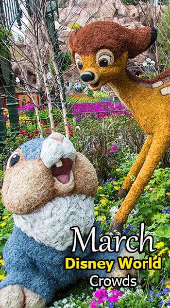 Disney World Crowd Calendar March 2020