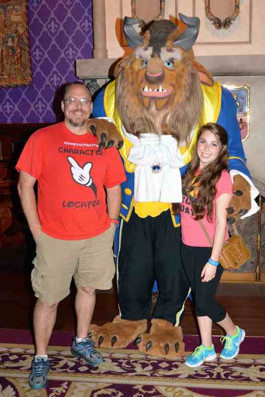 Be Our Guest Restaurant meet and greet Beast