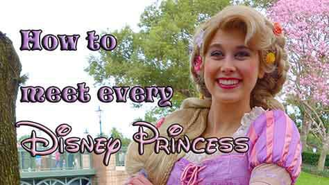how to meet every princess at disney world