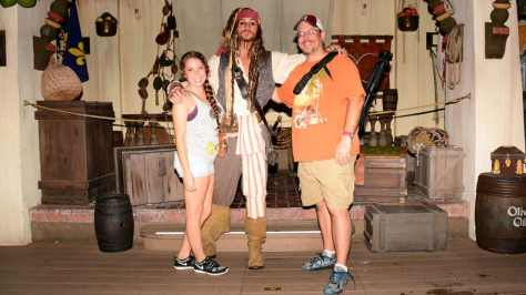 Mickey's Not So Scary Halloween Party 2014 Captain Jack Sparrow meet and greet