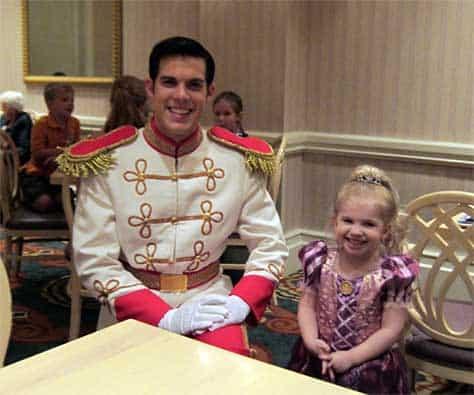 Prince Charming at 1900 Park Fare at the Grand Floridian Resort at Disney World