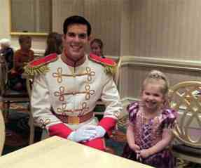Prince Charming at 1900 Park Fare at the Grand Floridian Resort at Disney World