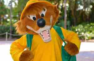 Brer Fox Character Palooza at Tower of Terror exit gate