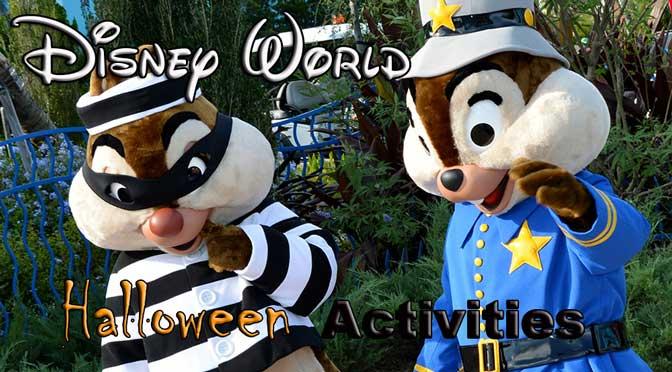 Halloween activities for various Walt Disney World resorts
