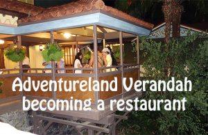 Adventureland Verandah Restaurant coming to the Magic Kingdom in Walt Disney World