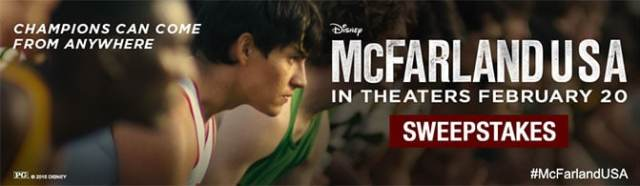 Disney McFarland USA Sweepstakes l kennythepirate.com