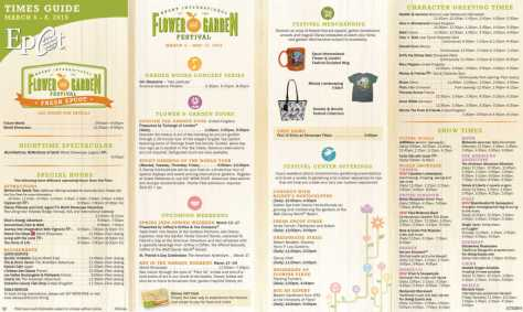 Epcot Flower and Garden Festival Times Guide l kennythepirate.com