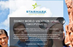 StarMark Vacation Homes Disney World Vacation Home Sweepstakes l kennythepirate.com
