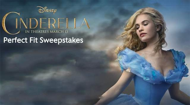 cindella perfect fit disney world sweepstakes