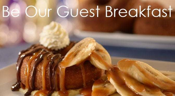 Be Our Guest Restaurant Breakfast allows pre-ordering