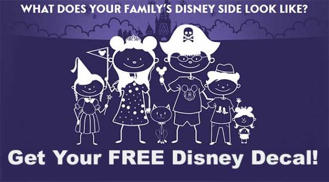 Get your free show your Disney Side Decal