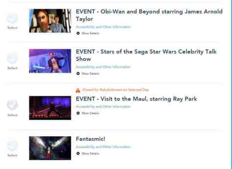 Star Wars Weekends Fastpass+ for Shows 2 l kennythepirate.com