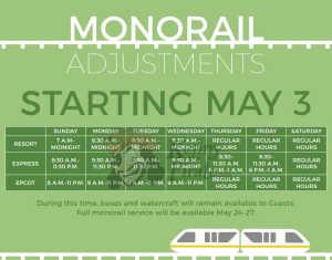 Walt Disney World monorail schedule