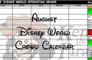 Disney World Crowd Calendar August 2017