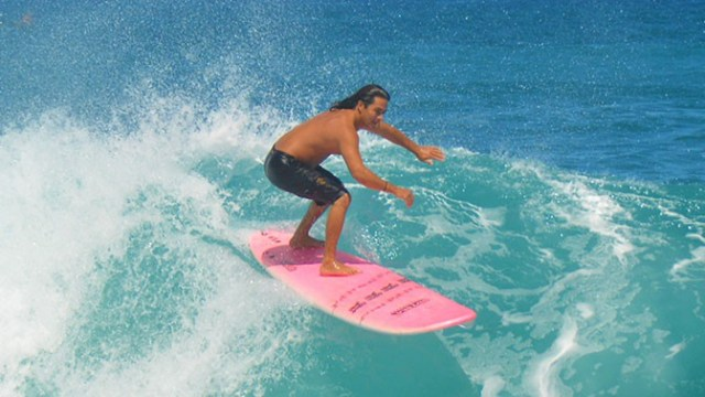 Banzai Pipeline surfing in Oahu, Hawaii