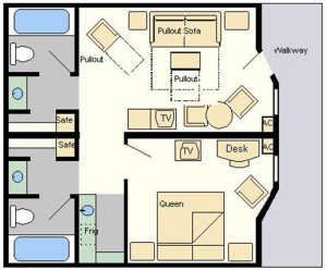 all star music suites room layout