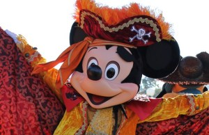 Mickey Mouse in Pirate costume for Halloween at Disneyland Paris