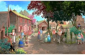 Epcot Norway Royal Summerhus concept art