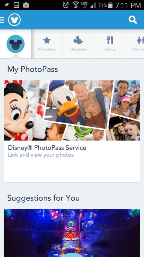 My Disney Experience now includes Photopass previews