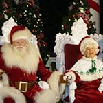 Santa and Mrs Claus at Epcot during Holidays Around the World