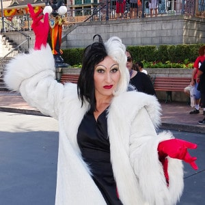 Cruella de Vil at Disneyland 2015