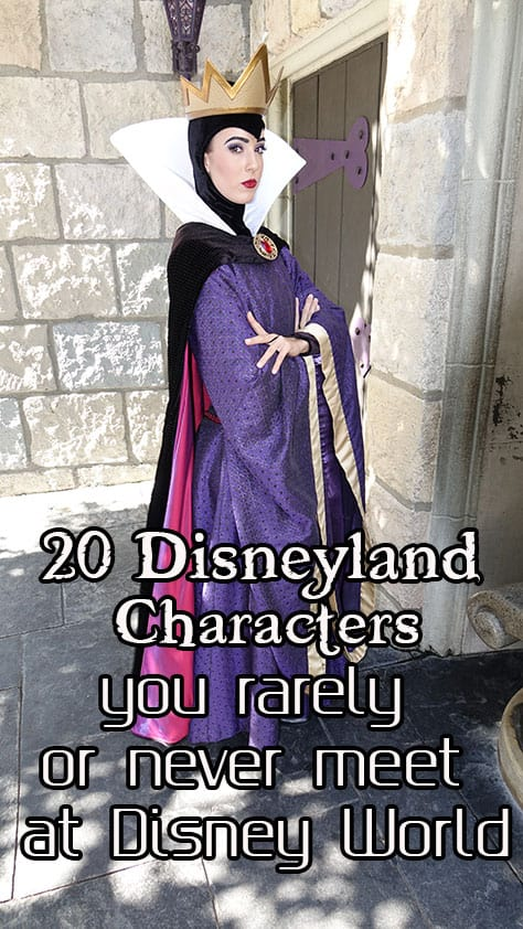 More than 20 Disneyland characters that you rarely or never meet at Walt Disney World