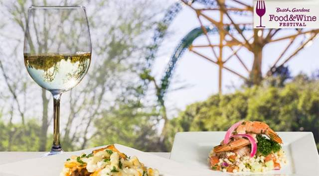 Busch Gardens Food and Wine Festival Menus and Concerts