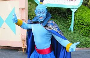 Aladdin's Genie in human form at Disneyland Paris