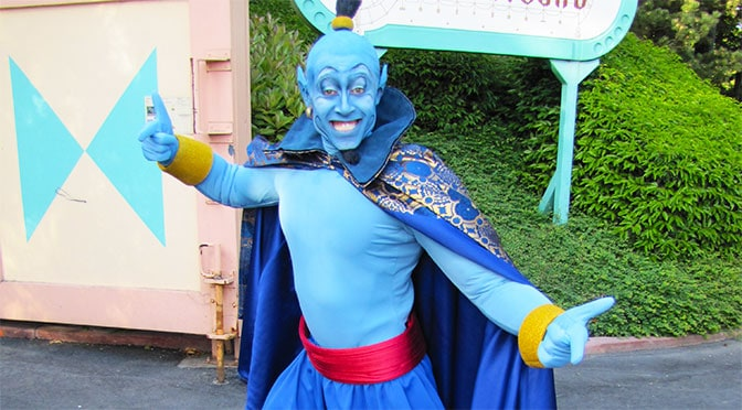 Worldwide Wednesday: Aladdin's Genie in human form at Disneyland Paris