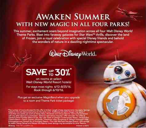 Awaken Summer at Disney World with 30% off rooms and special MagicBand