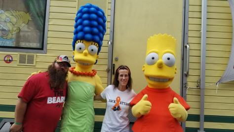 Universal Orlando Character Day with Ryan and Heather April 2016 (11) Marge and Bart Simpson