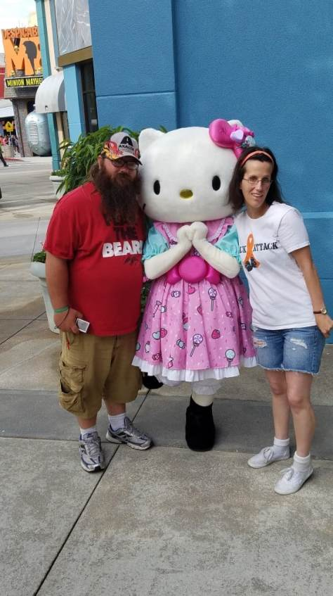 Universal Orlando Character Day with Ryan and Heather April 2016 (13) Hello Kitty